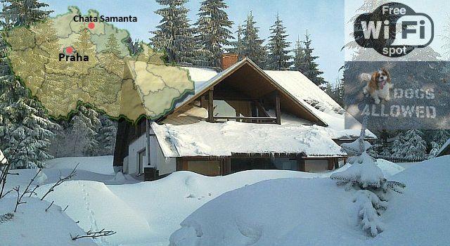 Když napadne sníh, je to na chatě jako v pohádce. všechno je přikryté bílou peřinou a počasí přímo volá po zimních radovánkách …